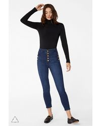 J Brand Sustainable Natasha Sky-high Cropped Super Skinny - Blue