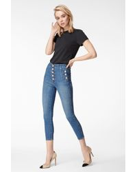 J Brand Natasha Sky-high Cropped Super Skinny