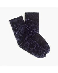 J.Crew - Bootie Socks In Crushed Velvet - Lyst