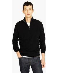 J.Crew - Everyday Cashmere Half-zip Sweater - Lyst