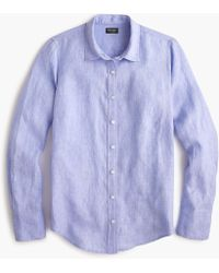 J.Crew - Slim Perfect Shirt In Irish Linen - Lyst