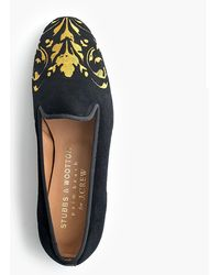 Stubbs & Wootton - Loafer In Black And Gold - Lyst