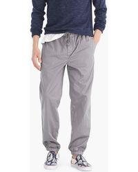 J.Crew - Drawstring Pant In Garment-dyed Stretch Twill - Lyst