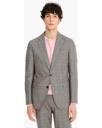 c8f873c3af77 J.Crew Ludlow Two-button Suit Jacket with Double-vented Back in Birds-eye  Tweed in Gray for Men - Lyst