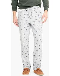 J.Crew - Flannel Pyjama Pant In Skier Print - Lyst
