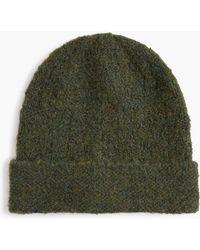 J.Crew - Knit Hat In Italian Boucle Yarn - Lyst