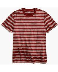 J.Crew - Mercantile Broken-in T-shirt In Triple Stripe - Lyst