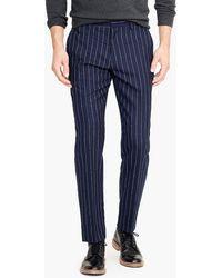 J.Crew - Ludlow Slim-fit Pant With Bouclé Pinstripes - Lyst