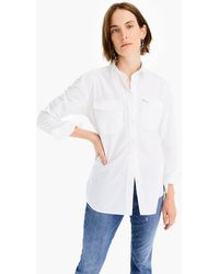 J.Crew Boyfriend Utility Shirt In Cotton Poplin