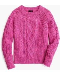 J.Crew - Donegal Cable-knit Crewneck Jumper - Lyst