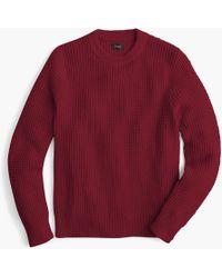 J.Crew - Cotton Thermal Heavyweight Sweater - Lyst