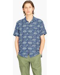 J.Crew - Short-sleeve Carnation Print Shirt With Camp Collar - Lyst