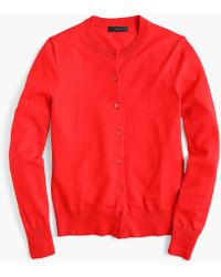 J.Crew - Cotton Jackie Cardigan Jumper - Lyst