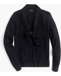 J.Crew - Tie-front Pullover Sweater - Lyst