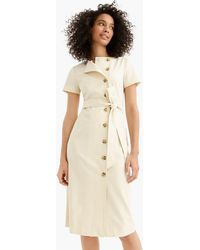 43ccface9 J.Crew - Short-sleeve Trench Dress In Italian Stretch Wool - Lyst