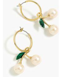 J.Crew - Pearl Cherry Earrings - Lyst