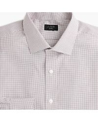 J.Crew - Ludlow Slim-fit Stretch Two-ply Easy-care Cotton Dress Shirt In Microcheck - Lyst