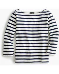 J.Crew - Structured Boatneck T-shirt In Stripe - Lyst