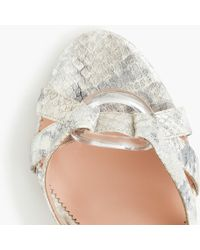c8d3746f722f J.Crew - Stella Heels In Metallic Snakeskin-printed Leather With Lucite  Buckle -