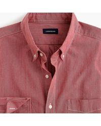 J.Crew - Slim Stretch Colored Chambray Shirt - Lyst