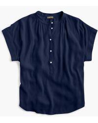 J.Crew - Petite Point Sur Drapey Popover Shirt - Lyst