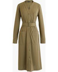 J.Crew - Petitelong-sleeve Belted Knit Dress - Lyst