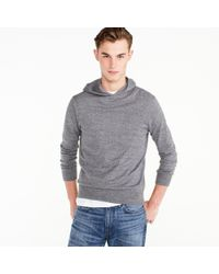 J.Crew - Cotton Pullover Hoodie In Grey - Lyst