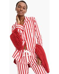 J.Crew - Vintage Pajama Top In Candy Cane Stripe - Lyst