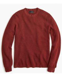 J.Crew - Destination Merino Wool Waffle-knit Crewneck Sweater - Lyst