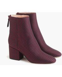 J.Crew - Sadie Ankle Boots In Silk Tie Print - Lyst