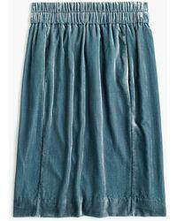 J.Crew - Tall Pull-on Velvet Skirt - Lyst