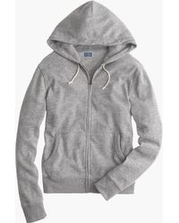 J.Crew - Brushed Fleece Zip Hoodie - Lyst