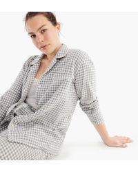 J.Crew - Vintage Gingham Flannel Pajamas (plus Size) - Lyst