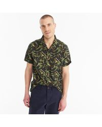 J.Crew - Wallace & Barnes Printed Camp-collar Shirt - Lyst