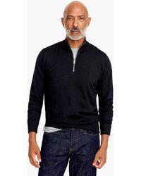 J.Crew - Merino Wool Half-zip Sweater - Lyst