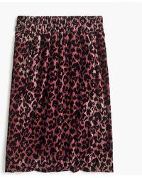 J.Crew - Printed Pull-on Velvet Skirt - Lyst