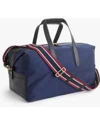 J.Crew - Oar Stripe Nylon Weekender Bag - Lyst