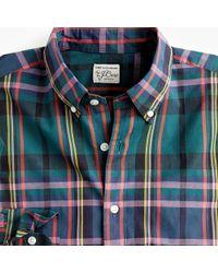 J.Crew - Untucked Stretch Secret Wash Shirt In Signature Tartan - Lyst