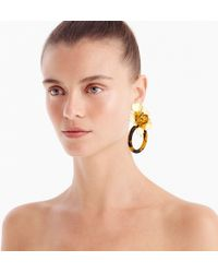 J.Crew - Flower And Tortoise Door Knocker Clip-on Earrings - Lyst