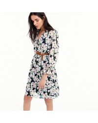 J.Crew - Mercantile Drapey Tie-front Dress In French Floral - Lyst