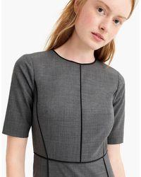 J.Crew - Panelled Sheath Dress In Everyday Wool - Lyst