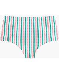 970ede859c4 Seamless High-waisted Bikini Bottom In Suckered Contrast Stripe