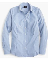 97dfff95f77a J.Crew Classic-fit Shirt In Drapey Velvet Leopard Print - Lyst