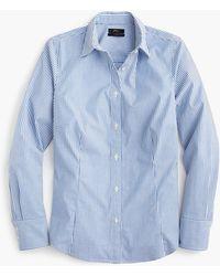 J.Crew - Tall Curvy Slim Stretch Perfect Shirt In Stripe - Lyst