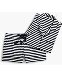 J.Crew - Dreamy Short-sleeve Cotton Pajama Set In Stripe - Lyst