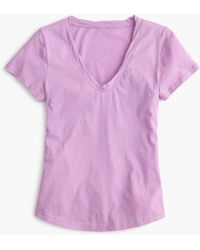 J.Crew - Scoopneck Tissue T-shirt - Lyst
