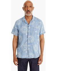 J.Crew - Short-sleeve Dotted Pinwheel Print Shirt With Camp Collar - Lyst