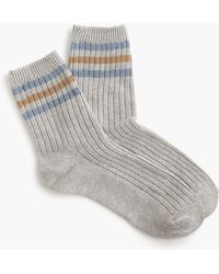 J.Crew - Ankle Boot Socks In Rugby Stripe - Lyst