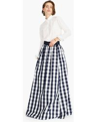 J.Crew - Taffeta Belted Ball Skirt In Oversized Gingham - Lyst