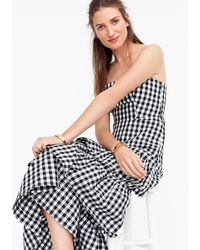 J.Crew - Tiered Gingham Gown - Lyst